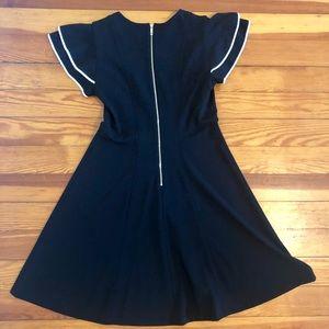 Black dress w/white trim